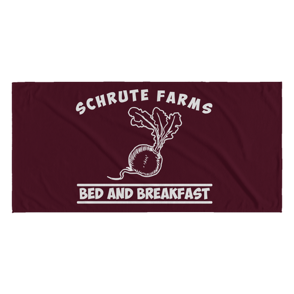 Schrute Farms Bed n Breakfast Beets Funny Beach Towels for Men Women Boys Girls