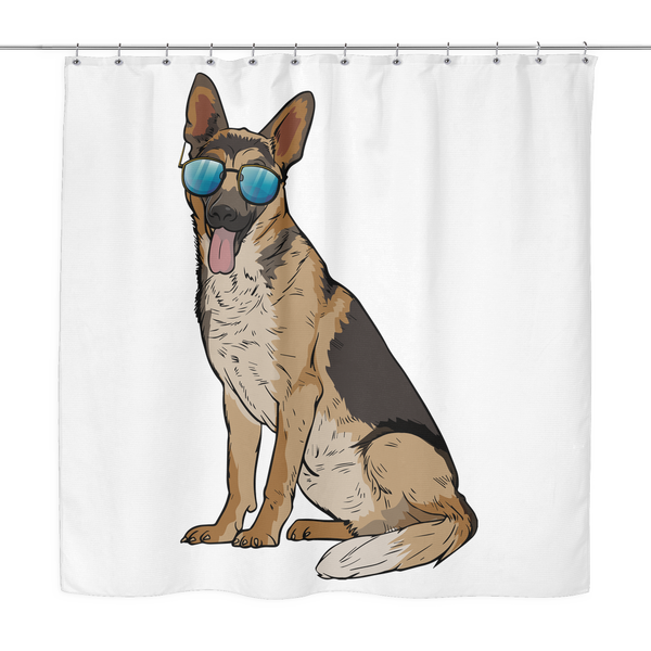 German Shepherd Shower Curtains, Cute Gift for Dog Lovers