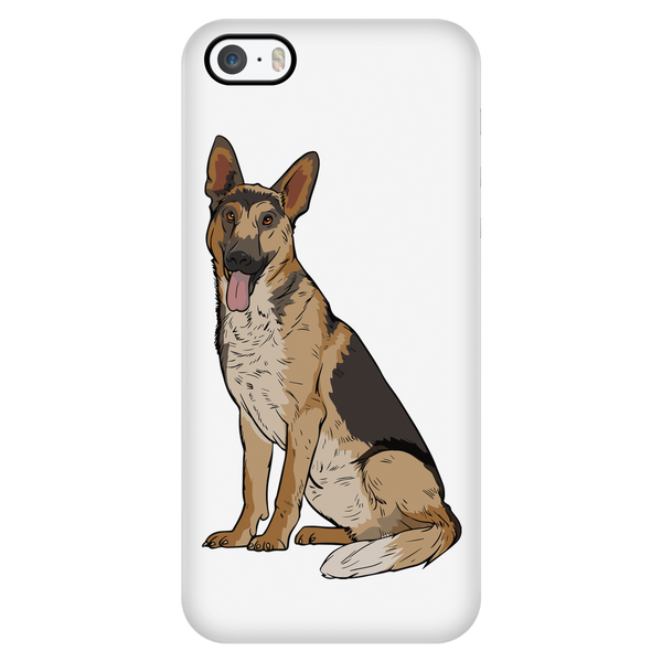 German Shepherd Smart Phone Case for iPhone, Funny Gift for Dog Lovers