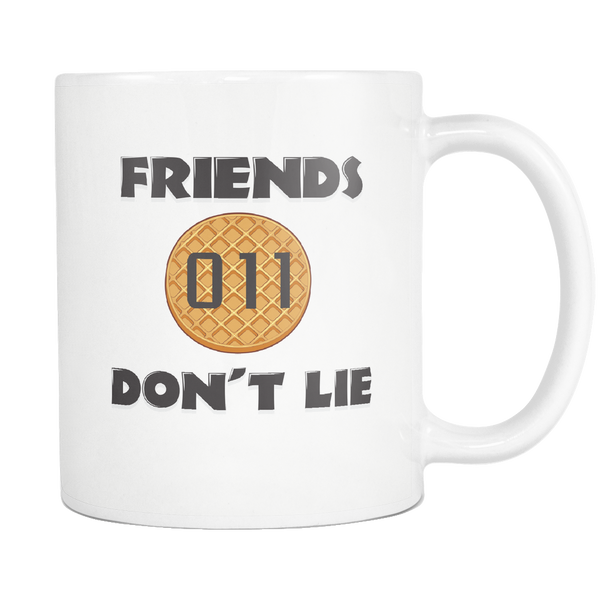 Friends Don't Lie Stranger Shaped Waffle Eleven Funny Coffee Mugs for Men Women