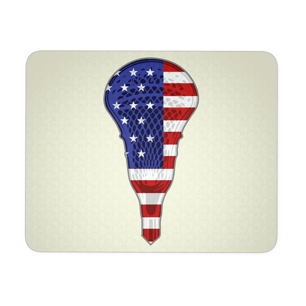 Lacrosse USA Flag Mouse Pad, Gifts for Lacrosse Players Sports Lovers
