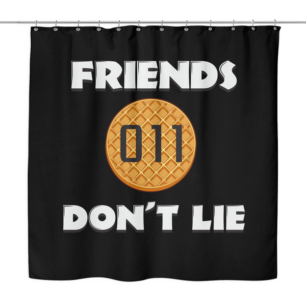 Friends Don't Lie Stranger Waffle Eleven Shower Curtains for Women Men Kids