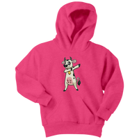Dabbing Cow Youth Hoodie, Gifts for Farmers Farm Animal Lovers