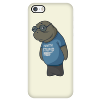 Manatee Im With Stupid Commercial Novelty Smart Phone Case for iPhone