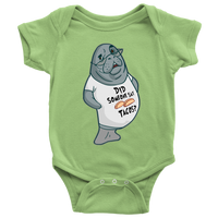 Manatee Did Someone Say Tacos Commercial Novelty Romper Bodysuit for Baby Boy Girl