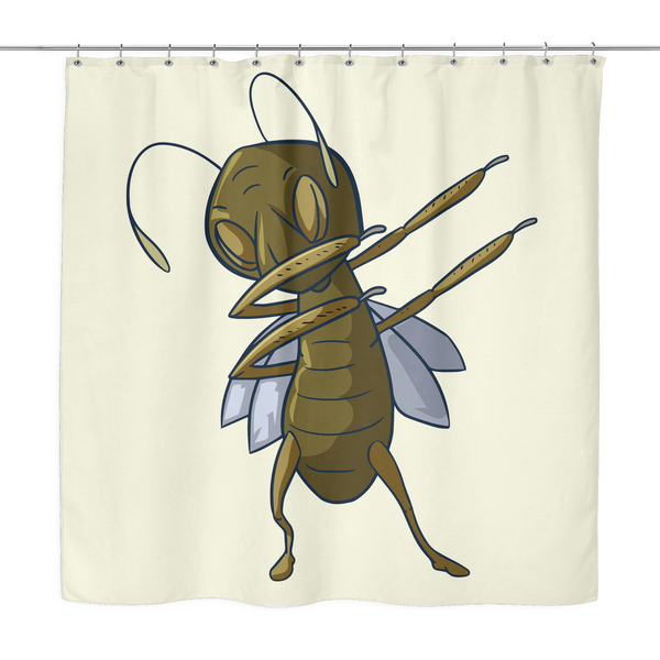 Grasshopper Shower Curtain, Dabbing Gifts for Insect Bug Lovers