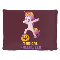 Dabbing Halloween Unicorn Dog Cat Pet Bed, Gifts for Pumpkin Candy Treat Scary Trick