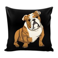 Bulldog Pillow Covers, Funny Gift for Cute Dog Lovers