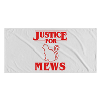 Justice for Mews Cat Funny Beach Towels for Men Women Kids Boys Girls