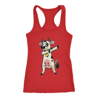 Dabbing Cow Racerback Tank Women, Gifts for Farm Animal Lovers