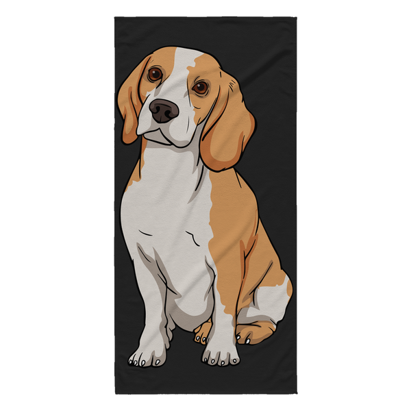 Beagle Beach Towels, Funny Gift for Cute Dog Lovers