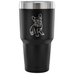 French Bulldog Sunglasses Funny Vacuum Travel Tumbler, Gifts for Dog Puppy Lovers