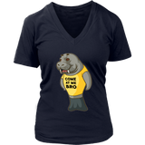 Manatee Come At Me Bro Commercial Novelty V Neck Shirt for Women