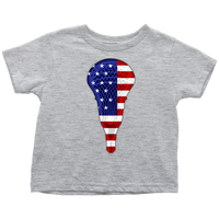Lacrosse USA Flag Toddler Tee Shirt, Gifts for Lacrosse Players Sports Lovers