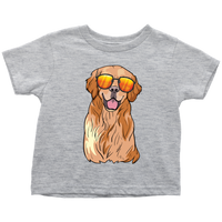 Golden Labrador Retriever Shirt for Toddlers, Funny Gift for Dog Lovers
