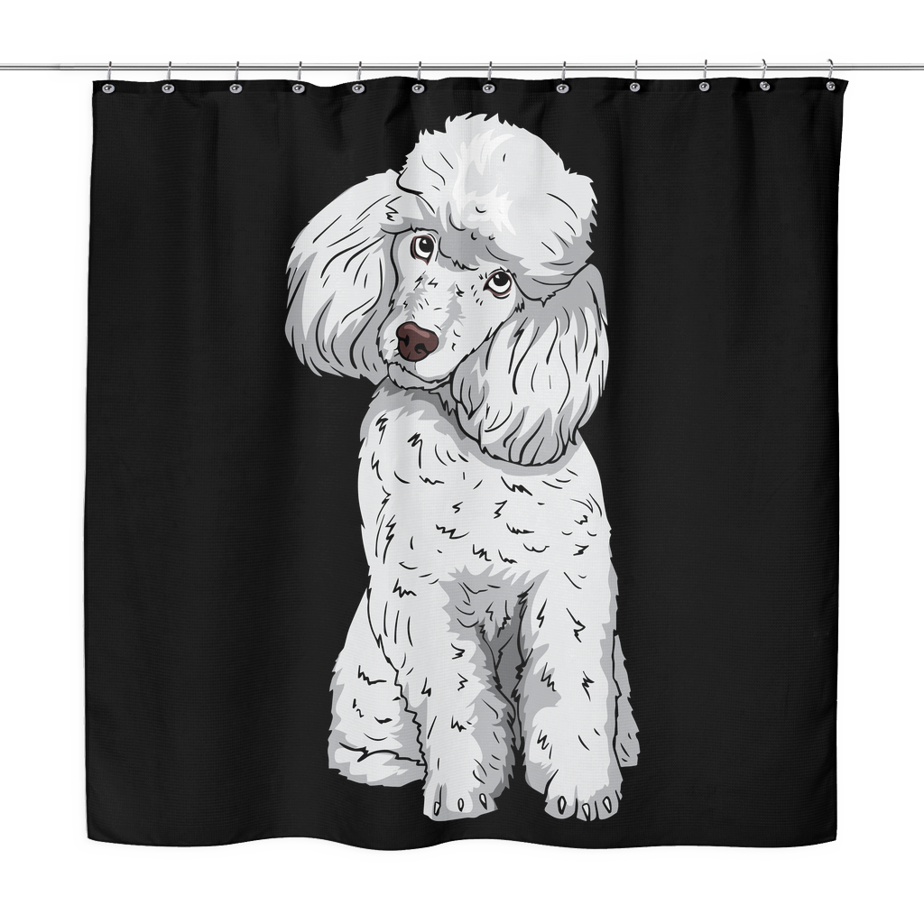 Poodle Shower Curtains Funny Gift For Cute Dog Lovers