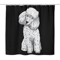 Poodle Shower Curtains, Funny Gift for Cute Dog Lovers