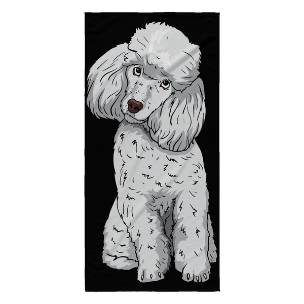 Poodle Beach Towels, Funny Gift for Cute Dog Lovers