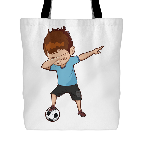 Soccer Tote Bag Cute Funny Dabbing Dance Soccer Tote Bag for Women