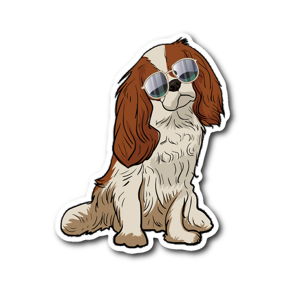 Cavalier King Charles Spaniel Dog Sticker for Car Bumper, Funny Dog Lover Gifts 9166A