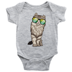 American Curl Cat Baby Romper Bodysuit, Cat Lover Gifts 9183A