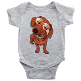 Dachshund Baby Romper Bodysuit, Cute Gift for Cute Dog Lovers