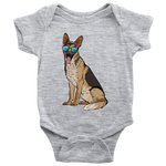German Shepherd Baby Romper Bodysuit, Cute Gift for Dog Lovers