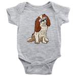 Cavalier King Charles Spaniel Dog Baby Romper Bodysuit, Funny Dog Lover Gifts 9166A