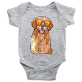 Golden Labrador Retriever Baby Romper Bodysuit, Funny Gift for Dog Lovers
