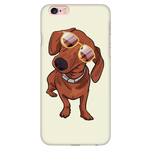 Dachshund wth Sunglasses Funny Phone Case for iPhone, Gifts for Dog Puppy Lovers