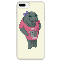 Manatee Lets Cuddle Commercial Novelty Smart Phone Case for iPhone
