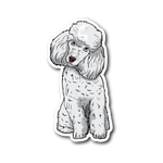 Poodle Sticker, Funny Gift for Cute Dog Lovers