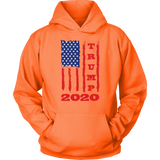 Trump 2020 USA Flag Hoodie Sweatshirt, Gifts for Republicans Conservative