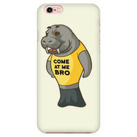 Manatee Come At Me Bro Commercial Novelty Smart Phone Case for iPhone