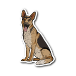 German Shepherd Sticker, Funny Gift for Dog Lovers
