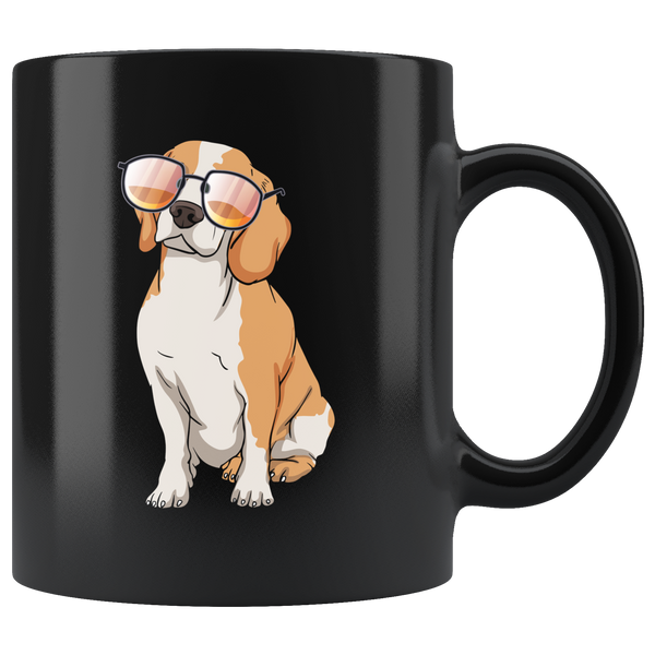 Beagle Black Coffee Mugs, Cute Gift for Cute Dog Lovers