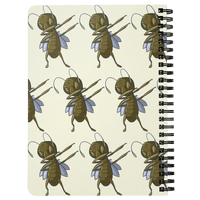 Grasshopper Journal Diary Spiralbound Notebook, Dabbing Gifts for Insect Bug Lovers