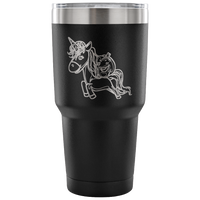 Halloween Unicorn Pumpkin Vacuum Travel Tumbler, Gifts for Trick Treat Party