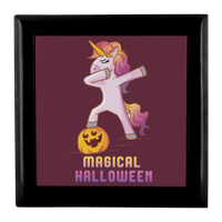 Dabbing Halloween Unicorn Jewelry Box, Gifts for Pumpkin Candy Treat Scary Trick