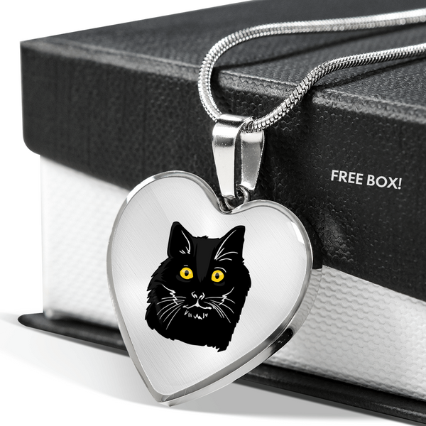 Bombay Cat Heart Pendant Necklace, Cat Lover Gifts 9189A