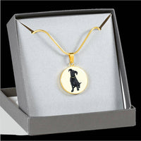 Black Labrador Pendant Necklace Bangle, Funny Gift for Cute Dog Lovers