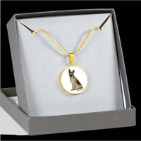 German Shepherd Pendant Necklace Bangle, Cute Gift for Dog Lovers