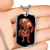 Dachshund Dog Tag, Cute Gift for Cute Dog Lovers