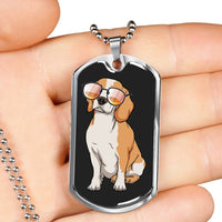 Beagle Dog Tag, Funny Gift for Cute Dog Lovers
