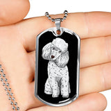 Poodle Dog Tag, Funny Gift for Cute Dog Lovers