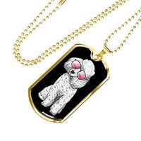 Poodle Dog Tag, Cute Gift for Cute Dog Lovers