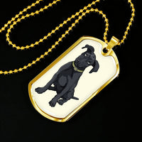 Black Labrador Dog Tag, Funny Gift for Cute Dog Lovers