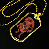 Dachshund Dog Tag, Funny Gift for Cute Dog Lovers