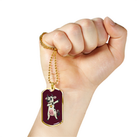 Dabbing Cow Military Dog Tag, Gifts for Farm Animal Lovers