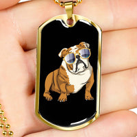 Bulldog Dog Tag, Cute Gift for Cute Dog Lovers
